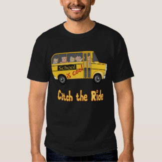 School is Cool School bus T-Shirt
