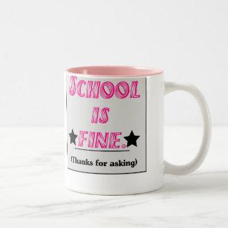School Is Fine Two-Tone Mug