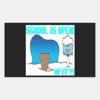 School Is Open Rectangular Sticker