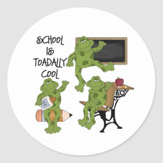 School Is Toadally Cool Round Sticker