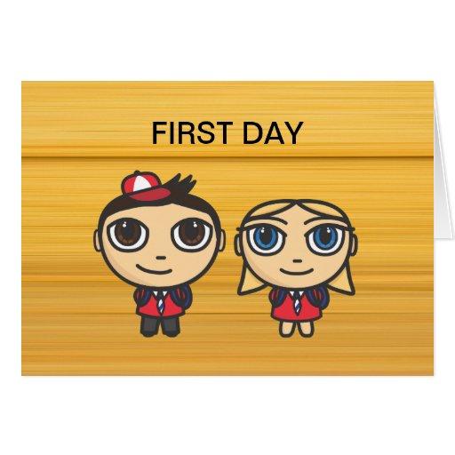 School Kids First Day Card