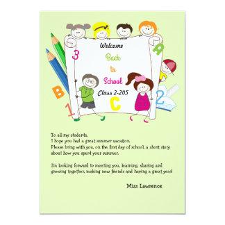 School Kids Teacher's Ice Breaker Notecard 13 Cm X 18 Cm Invitation Card