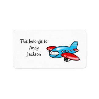 School Labels ( airplane )