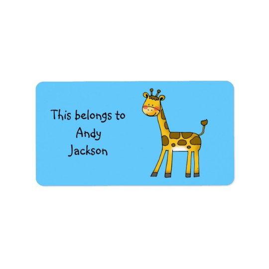 School Labels ( cute giraffe )