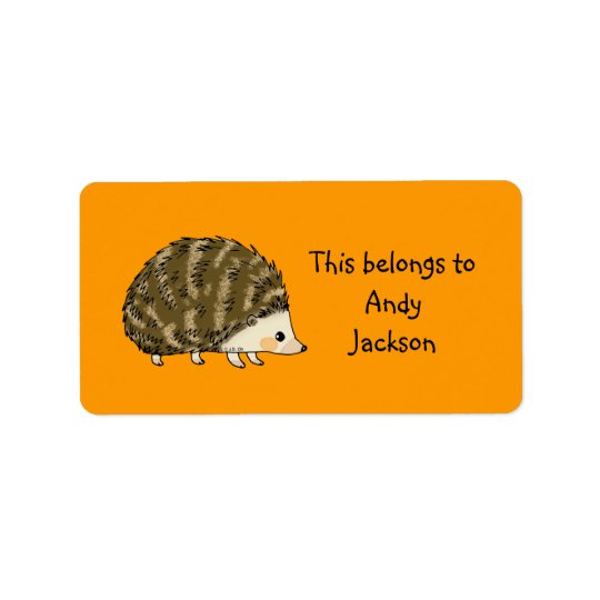 School Labels ( hedgehog )