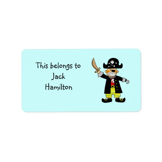 School Labels (pirate)