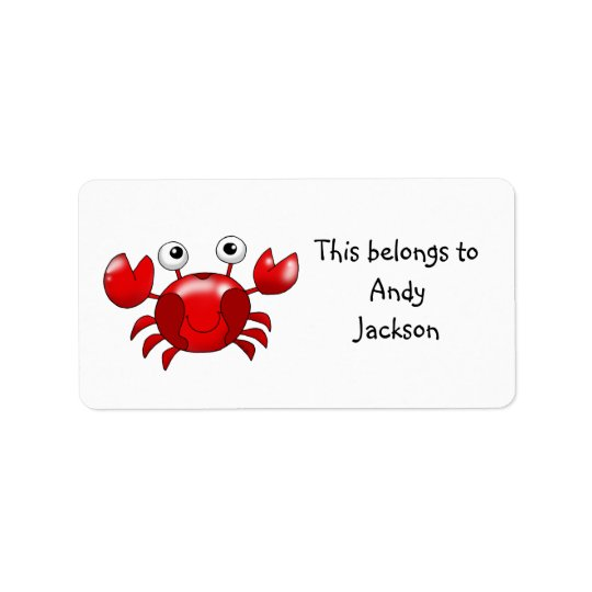 School Labels ( red crab )
