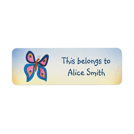 School Labels with butterfly | Our name