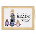 School Librarian Thank You Card