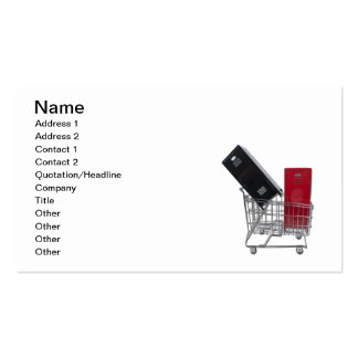 School Lockers in Shopping Cart Double-Sided Standard Business Cards (Pack Of 100)