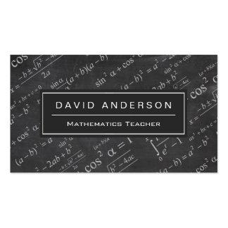 School Math Teacher Mathematics Formula Chalkboard Pack Of Standard Business Cards