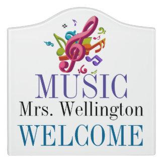 School MUSIC Teacher Classroom Door Sign