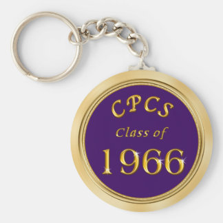 School Name, Colors and Year Class Reunion Favors Basic Round Button Key Ring