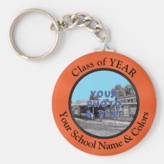 School Name, Photo, Year Class Reunion Keychains