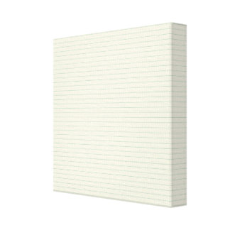 School Note Paper Stretched Canvas Print