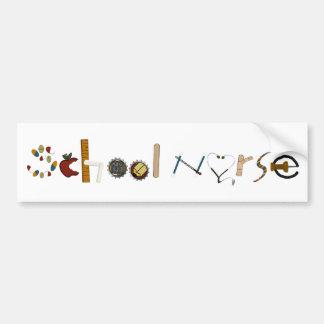 School Nurse Bumper Sticker by MagsGraphics Car Bumper Sticker