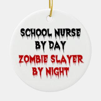 School Nurse by Day Zombie Slayer by Night Christmas Ornament