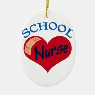 School Nurse Ceramic Oval Decoration
