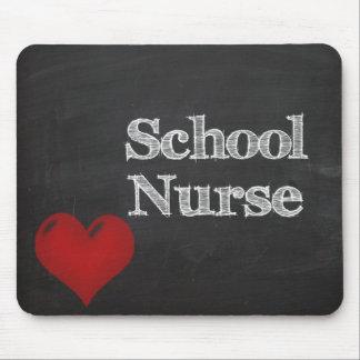 school nurse chalkboard mousepad