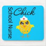 School Nurse Chick v1 Mousepad