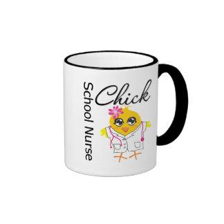 School Nurse Chick v2 Ringer Mug