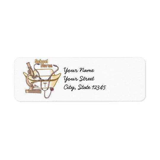 School Nurse Collage Return Address Label
