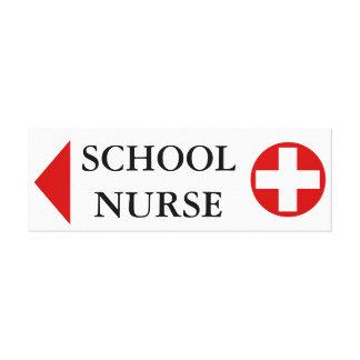 School nurse medical emergency LEFT Canvas Prints