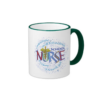 School Nurse Motto Ringer Mug
