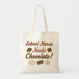 School Nurse Needs Chocolate Tote Bag