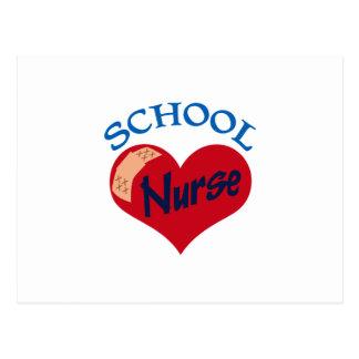 School Nurse Postcard