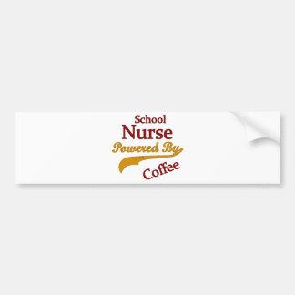 School Nurse Powered By Coffee Car Bumper Sticker