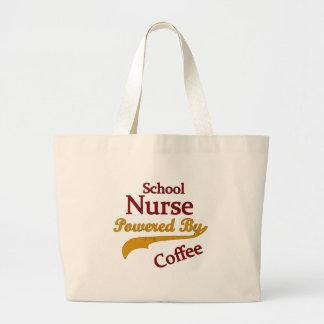 School Nurse Powered By Coffee Large Tote Bag