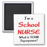 School nurse square magnet