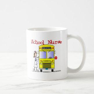School Nurse Stick People Design Coffee Mugs
