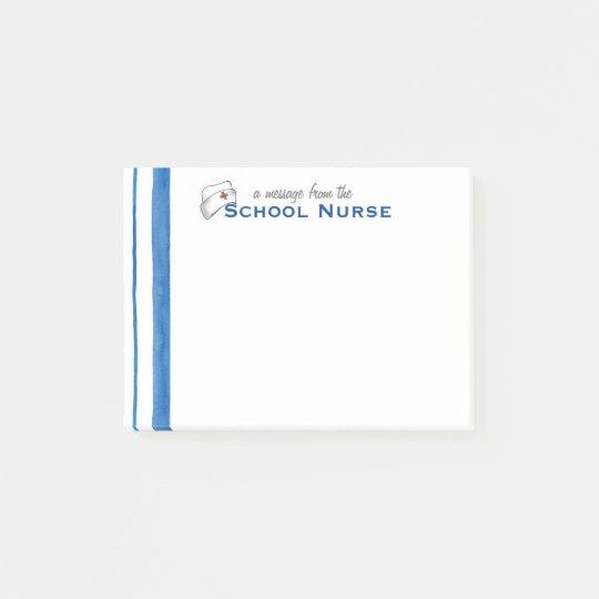 School Nurse Vintage Nurse's Cap Note
