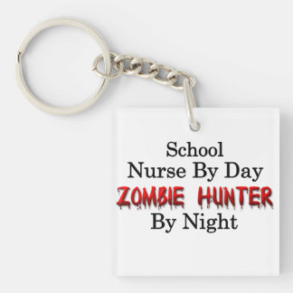School Nurse/Zombie Hunter Single-Sided Square Acrylic Key Ring