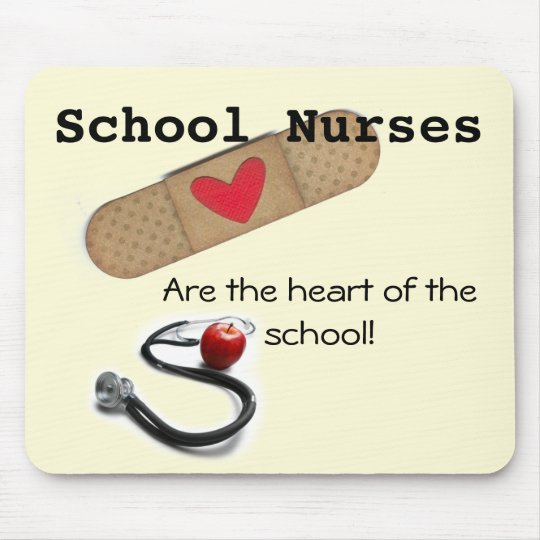 School Nurse's Heart of the School Mouse Pad