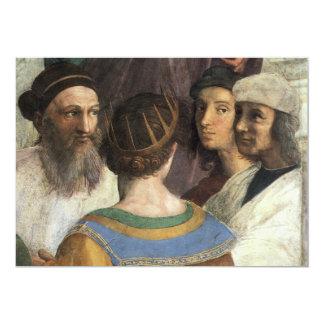 School of Athens by Raphael, Vintage Renaissance 13 Cm X 18 Cm Invitation Card
