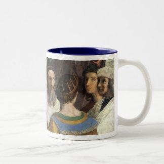 School of Athens by Raphael, Vintage Renaissance Two-Tone Coffee Mug