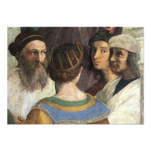 School of Athens (detail) by Raphael or Raffaello Invite
