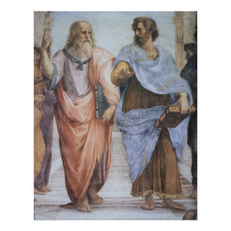 School of Athens (detail - Plato & Aristotle) Poster