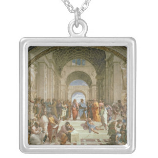 School of Athens, from the Stanza della Silver Plated Necklace