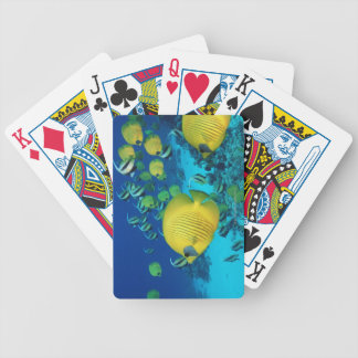 School of Butterfly Fish Swimming on the Seabed Bicycle Playing Cards