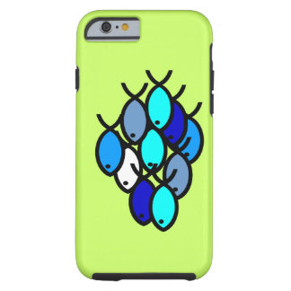 School of Christian Fish Symbols - Blue - Tough iPhone 6 Case