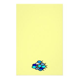 School of Christian Fish Symbols - Blue - Stationery Paper