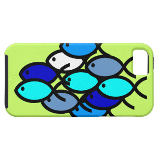 School of Christian Fish Symbols - Blue - Tough iPhone 5 Case