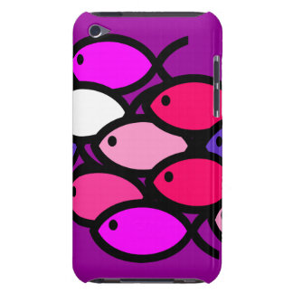 School of Christian Fish Symbols - Pink iPod Touch Case