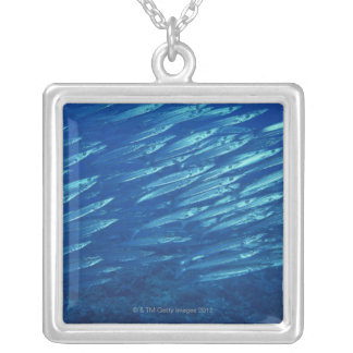 School of Fish 11 Silver Plated Necklace