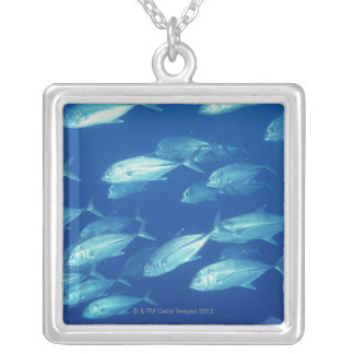 School of Fish 4 Silver Plated Necklace