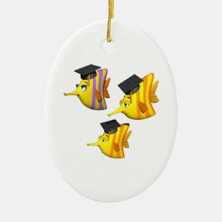 School Of Fish Ceramic Oval Decoration